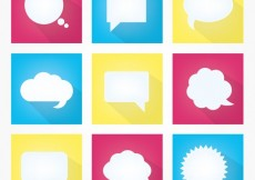 Free vector Variety of white speech bubbles #2123