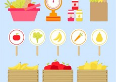 Free vector Vegetables and fruits market #430