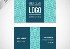 Free vector Visit card with japanese pattern #104