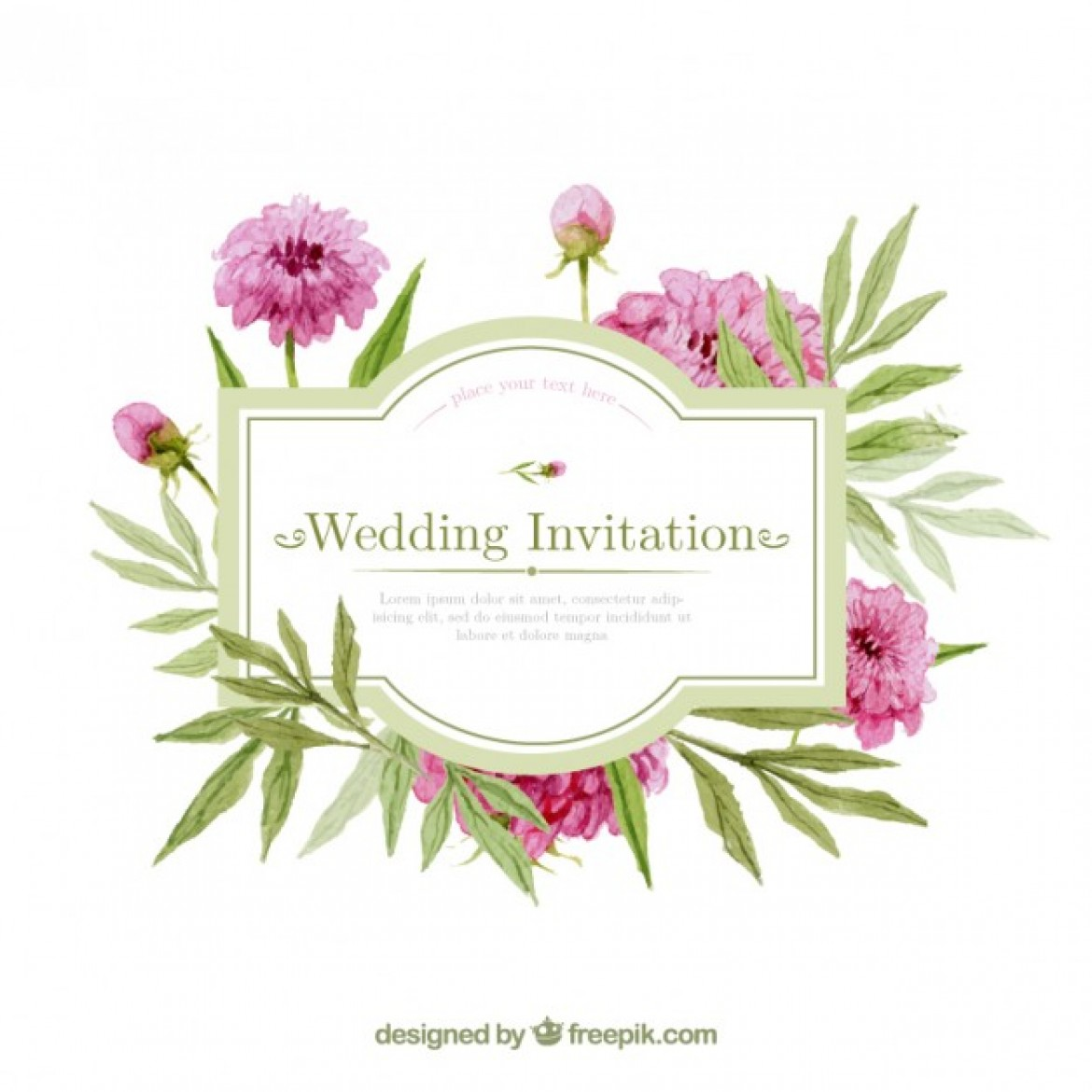 Free Printable Wedding Invitation Templates For Word: Wedding ...