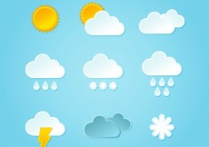 Free vector Weather icons #2600