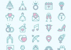 Free vector Wedding and love icons #533