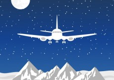 Free vector White plane flying #2221