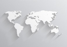 Free vector White world map #1681