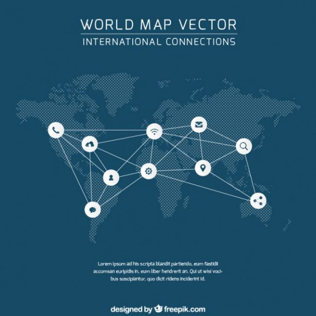 45 ideas world map freepik on christmashappynewyearswnload free vector world map connection 3718 my graphic hunt gumiabroncs Choice Image