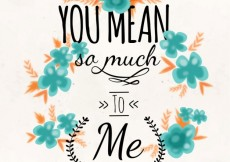 Free vector You mean so much to me, card #3442