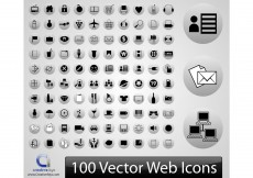 Free vector 100 Vector Web Icons #8622
