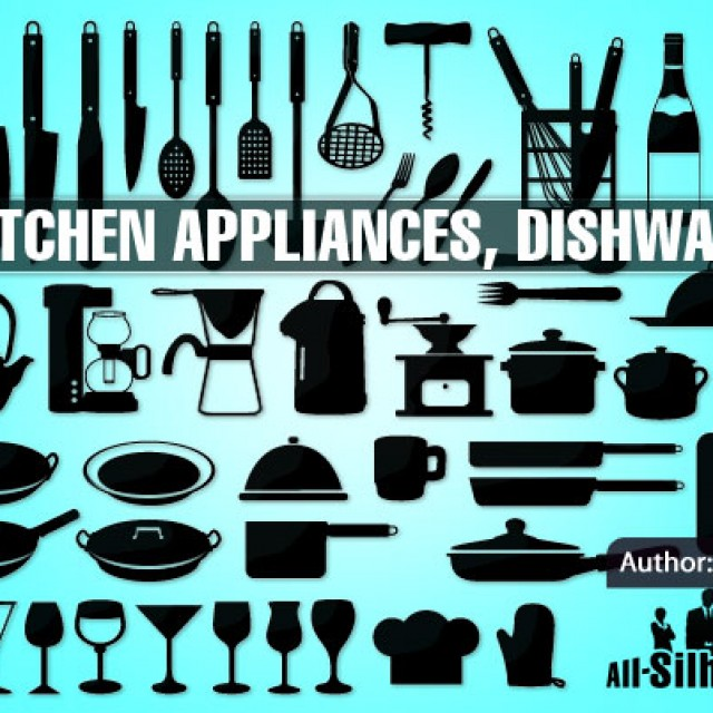 Free vector 52 Kitchen appliances, dishware #7324