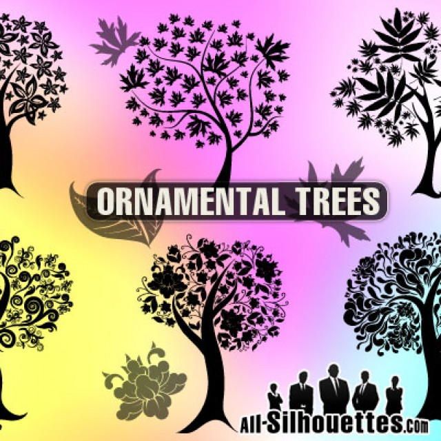 Free vector 6 Ornamental trees #5414