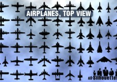 Free vector 61 Airplanes top view #9822
