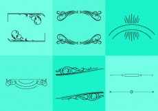 Free vector Fancy Line Ornament Vectors #5587