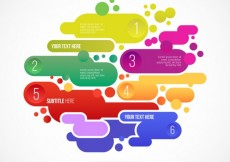 Free vector Abstract infographic in colorful style #11731
