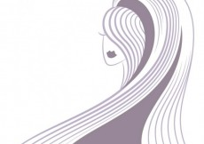 Free vector Abstract woman with long hair #6996