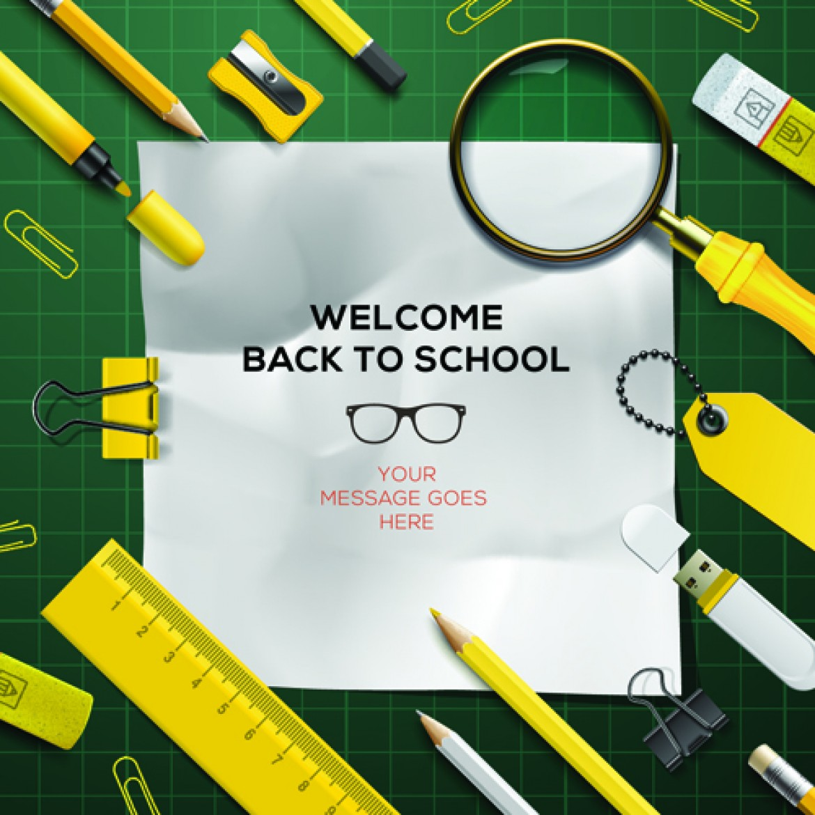 Free vector Back to school background graphics vector 02 #5270