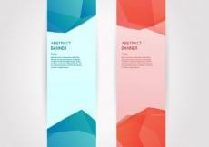 Free vector Banners with abstract polygons #7142