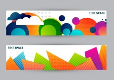 Free vector Banners with colorful geometric #7247