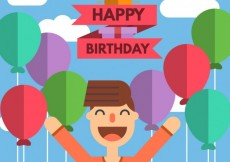 Free vector Birthday card in icon style #9600