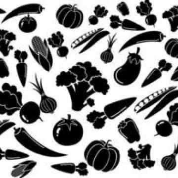Free vector Black White Vegetables Pattern #4553