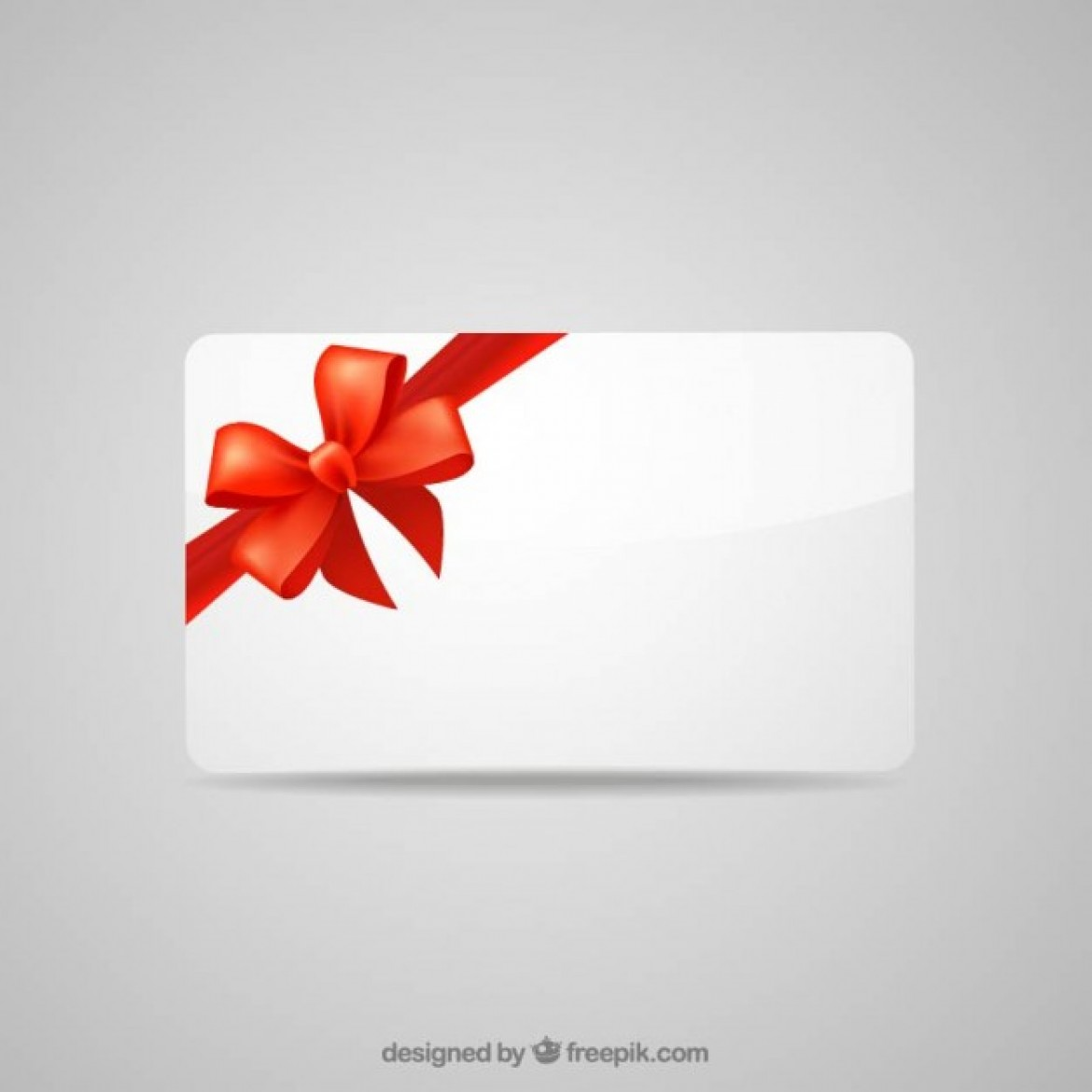 Free vector Blank gift card with red ribbon #10379 | My Graphic Hunt