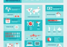 Free vector Blue travel infographics #11771