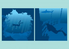 Free vector Blue Underwater Backgrounds #10995