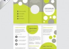 Free vector Brochure template with circles #9168