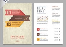 Free vector Brochure template with geometric pattern #10860