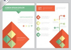 Free vector Brochure template with squares #9962