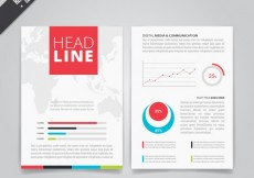 Free vector Business brochure with diagrams #11953