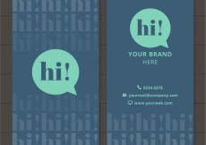 Free vector Business card with speech bubble #10451