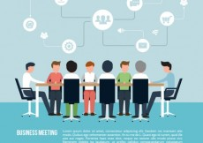 Free vector Business meeting infographic #6970