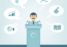 Free vector Businessman in a conference #7175