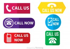 Free vector Call Us Flat Vector Icons #10112