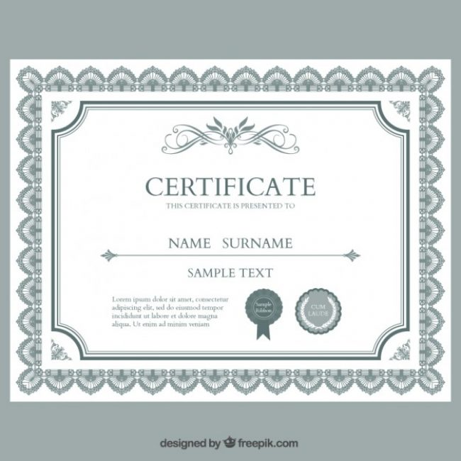 Free vector certificate template 5004 my graphic hunt free vector certificate template 5004 yadclub Gallery