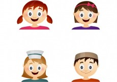 Free vector Child funny faces collection #10657