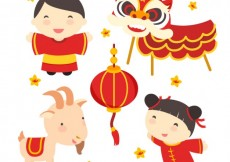 Free vector Chinese culture illustration #5546