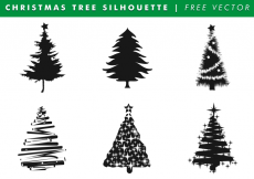 Free vector Christmas Tree Silhouettes Free Vector #11469