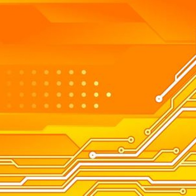 Free vector Circuit Board Orange Tech Background #5261