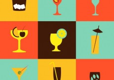 Free vector Cocktails icons collection #7039
