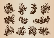 Free vector Collection Of Vector Vintage Floral Design Ornament Elements #5445
