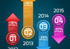 Free vector Colored arrows infographic #4147