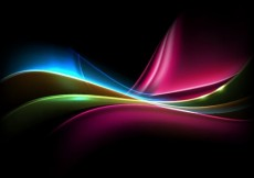 Free vector Colored Light on Dark Background #5025