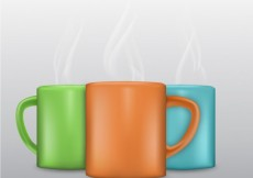 Free vector Colored mugs #6170