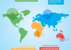 Free vector Colored world map infographic #6090