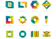 Free vector Colorful abstract logos #9907