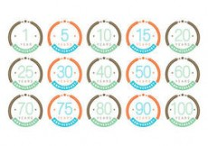 Free vector Colorful Anniversary Badge Vectors #4526