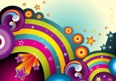 Free vector Colorful Background With Stars #5671