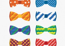 Free vector Colorful bow ties collection #8829