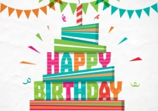 Free vector Colorful happy birthday card #6210