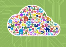 Free vector Colorful icons inside the cloud #9015